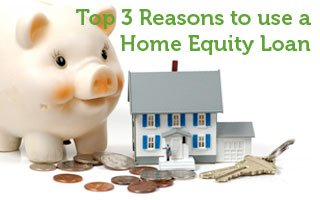 Top 3 Reasons to Use a Home Equity Loan